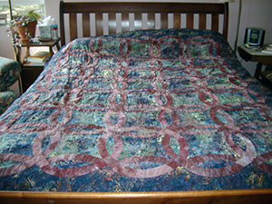 A Wedding Ring Quilt for Will and Gina