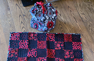 Quilted Checkerboard Game Bag