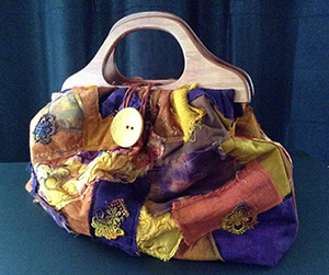 Scrappy Quilted Vintage Knitting Bag