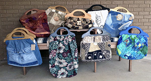 Quilted Vintage Knitting Bags