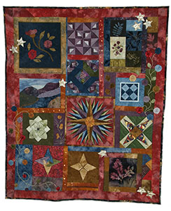 Sampler Art Quilt: Colorado Mosaic