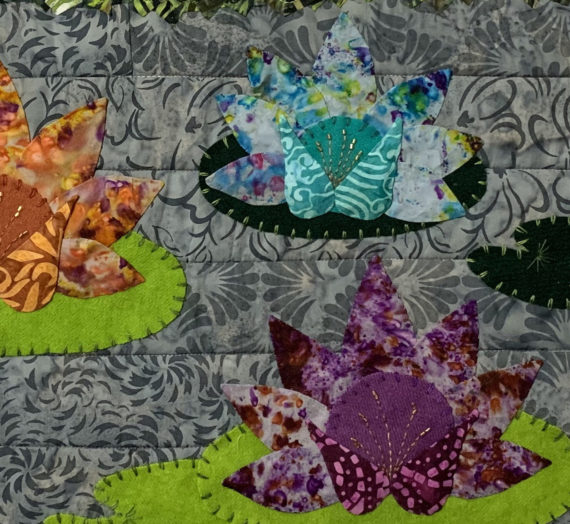 Quilt Designs Inspired by Monet's Garden: Monet's Lilies #1 and #2