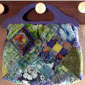 quilted vintage knitting bag