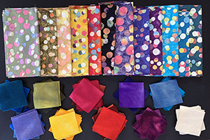 batiks and hand-dyed wool