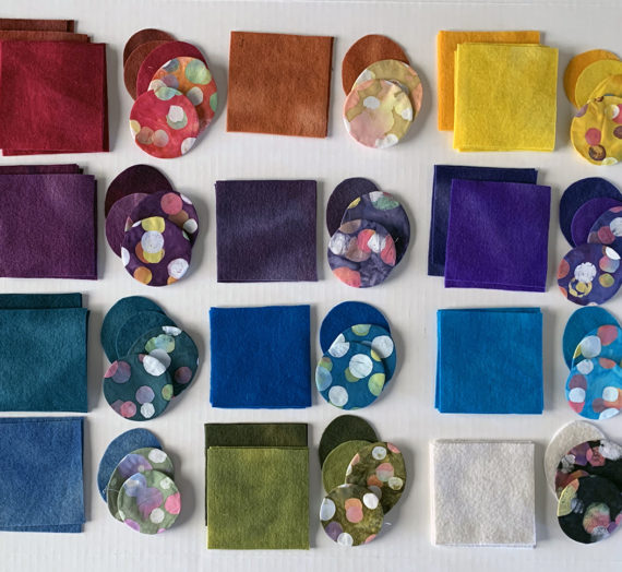 Batik Quilt Fabric with Wool to Dye For