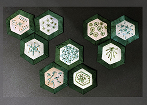 Embellished hexagons