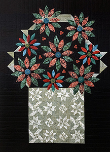Season's Greeting flower basket quilt