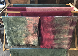 hand-dyed quilt fabric